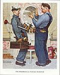 The Plumbers Art Poster Print by Norman Rockwell