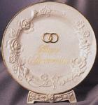 Happy Anniversary Porcelain Plate 10.25 Inch Diameter
