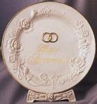 Happy Anniversary Porcelain Plate 10.25 Inch Diameter