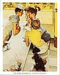 Soda Fountain Art Poster Print by Norman Rockwell