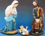 Nativity Set - Starter Three Piece - Painted Indoor Outdoor Statues