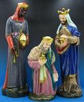 Three Kings Statues For Nativity Set - Painted Indoor Outdoor Statues