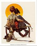 Sunset Art Poster Print by Norman Rockwell