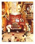 Traffic Conditions Art Poster Print by Norman Rockwell